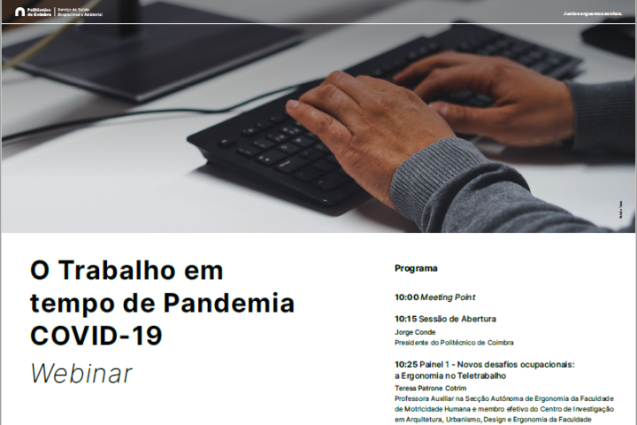 Webinar sobre trabalho em tempo de Pandemia